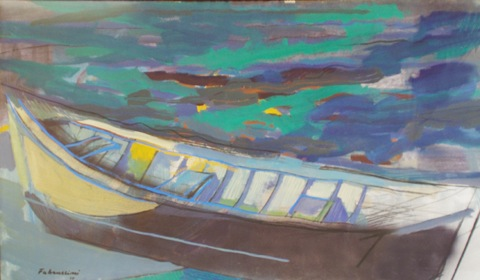 Das Boot Pastell 1987 146 x 96 cm Preis auf Anfrage - Miguel Fabruccini
