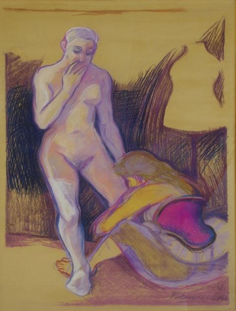 Die Ankleidung Pastell 1983 150 x 100 cm Preis auf Anfrage - Miguel Fabruccini