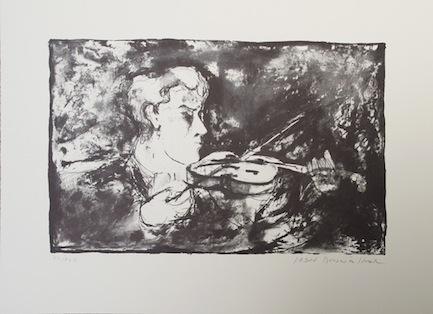 Der Violinist Originallithografie Auflage 140 Sign. und nummeriert - Joan Bennàssar