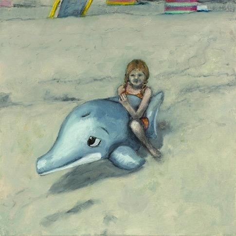 Mädchen mit Delfin - Corinna Brüggentisch