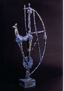 Staub der Wächter 1998 /23 Bronze Auflage 7 59 x 30 x 7 cm - Patrick Feldmann